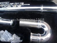 Cheap Wholesale - Sliver Great bass flute instruments A+++