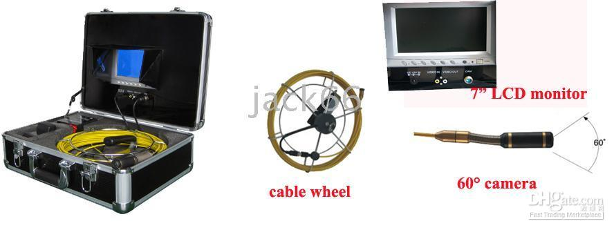Wholesale REAL COLOR inch LCD Pipeline SEWER PIPE VIDEO INSPECTION CAMERA SYSTEM Underwater Camera