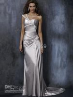 Wholesale 2010 New chinese New Custom Made bridal dress One Shoulder Wedding Dresses Formal Dress Evening Gown