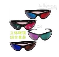 Wholesale multi colors Plastic D glasses for D vedio D movie D games D TV brand new pairs