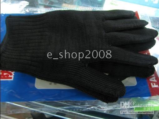 Wholesale SG08 Anti CUT Glove Cut Resistant Knitted anti cut gloves black guard against knife