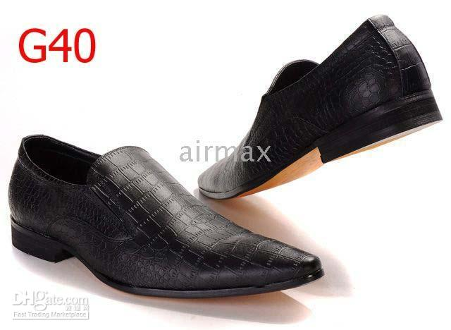 Wholesale Italian Brand Men s Black Dress Shoes Leather Casual Athletic Walking Office Size D51752