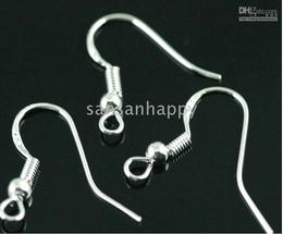 500PCS hot 925 Sterling Silver Earring Findings Fishwire Hooks Jewelry DIY 15mm fish Hook Fok Coil Ear Wire