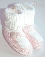 Handknit baby booties first walker shoes crochet 0- 12M 9pair...