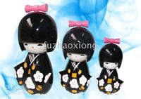 Wholesale Kokeshi Japanese Dolls Puppet Dolls Wooden Handcrafted Doll Multicolor Great Gift sets