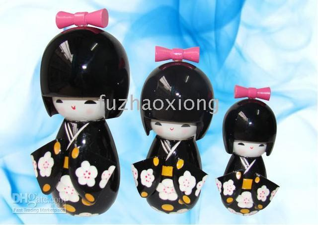 japanese kokeshi dolls - Kokeshi Japanese Dolls Puppet Dolls Wooden Handcrafted Doll Multicolor Great Gift sets