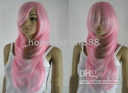Charming pink Long Healthy lady's wig wigs#w9288