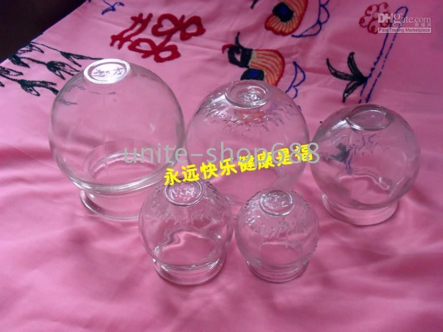 Wholesale new chinese old Treatment Tools Extra thick glass cupping glass cupping set