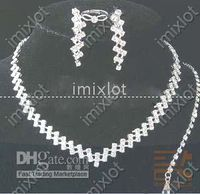 Wholesale Gemstone Jewelry Sets Bridal Jewelry Sets Wedding Jewelry Set Rhinestone Jewelry CN63