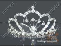 Wholesale 2012 Fashion tiaras wedding rhinestone bridal tiaras crystal tiara pearl tiara ornament crown CN52