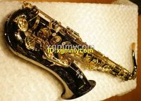 Wholesale 2011 New Arrival Custom CTE BLACK Tenor Saxophone with case High grade