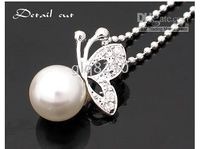 Wholesale Olay Pearl Necklace butterfly Fashion Cute Shape Alloy Chain Woman Brand New GIFT