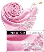 Wholesale NEW Pashmina scarf Cashmere silk Wrap Shawl Ponchos scarves plain mix order
