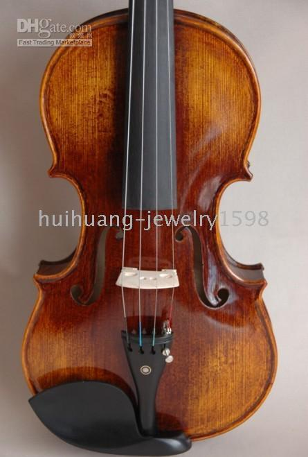 Wholesale Special Hand Made Hand Varnished Violin quot Artist Carved Scroll Top Back quot AA8