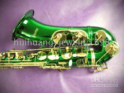 Wholesale New NEW Green Gold Alto Saxophone Sax