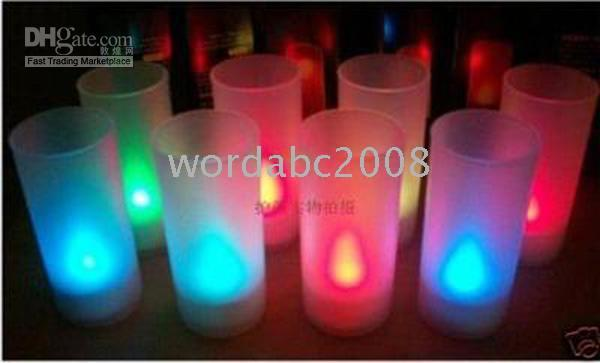 Wholesale Blow it out Multi Color Changing LED tealight candle
