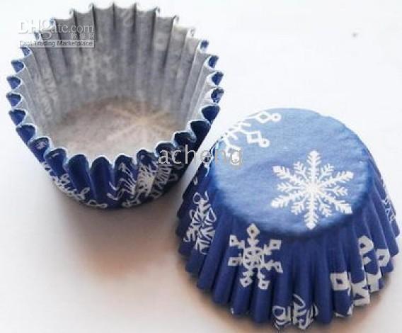 Wholesale one box box tart cake chocolate paper cases cupcake snowflakes