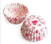 Wholesale one box mini tart cake chocolate paper cases cupcake heart