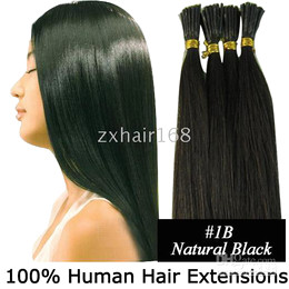 Wholesale 500S quot g s Stick tip hair Human Hair Extensions mix