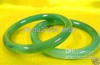 Wholesale Pair real Chinese green jade bracelet cuff bangle pc