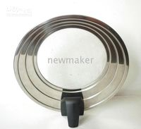Wholesale 1 PC Universal Lid Anti Splash Lid Stainless steel for Kitchen HK POST