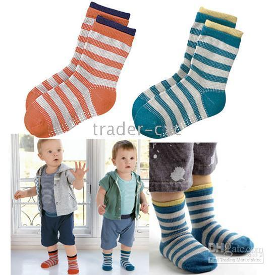 baby combi - striped baby sock Children s Socks non slip kids socks COMBI pairs ZY03