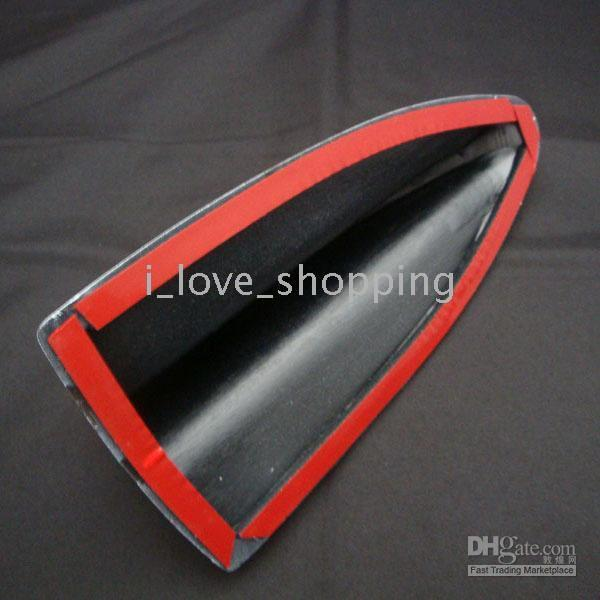 Wholesale 50pcs Decorative Shark Fin Antenna R with sticker Car Static Remove black