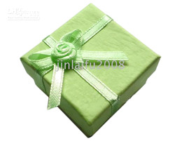 24Pc Wholesale Jewelry Green Ring Earring Gift Box Case