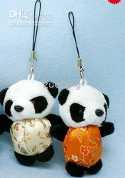 Best Mobile Strap Cell Phone Pendant Chinese Plush Panda Phone Straps Charms Accessories 30pcs lot