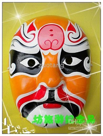 Bauta Mask paper mache - Party Masquerade Masks For Boys Chinese Theater Paper Mache Decorate Mask mix Free