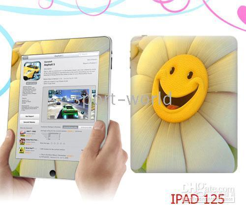 Wholesale Good quality iPad Skin Protectors Stickers Vinyl Skin Sticker for ipad many designs