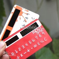 Wholesale 10pcs DOULEX Solar Card Calculator bank card calculator mini micro pocket calculator