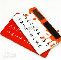 Wholesale 20pcs DOULEX Solar Card Calculator bank card calculator mini micro pocket calculator