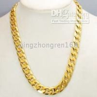Wholesale THICK HEAVY MENS CHAIN K YELLOW GOLD NECKLACE JEWELRY