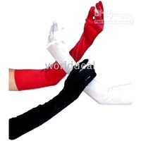 Wholesale Ladies white Stretchy Satin gloves wedding bridal opera cm