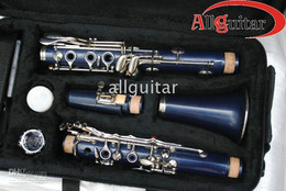 Wholesale Dark blue CLARINET key ABS body with Case Woodwind China goods