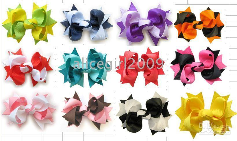 Wholesale inch baby girl hair bows attached clip pieces new hairbows g