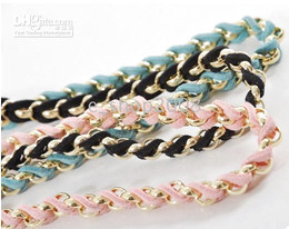 Wholesale Colorful Plaited Hair Headband Metal amp Chamois Material colors