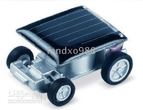 Wholesale 10PCS Solar car solar toys x cm COOL World Smallest Solar Racing Car