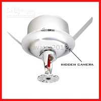 Wholesale 8 Fire Sprinkler Hidden Home Video Security Surveillance Camera