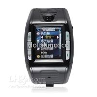 Wholesale Watch Wrist Cell Phone Tri Band F3 red black