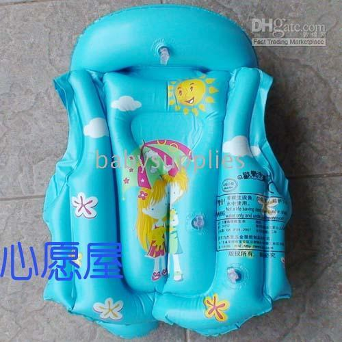 Wholesale Kids Children life jacket inflatable swimming suit swimming ring Bathing suit