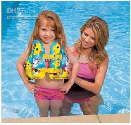 Wholesale Kids Children life jacket inflatable swimming suit swimming ring retail w002