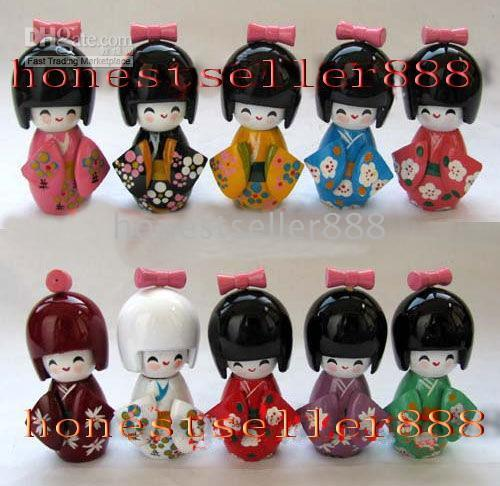Wholesale 10pc Oriental Japanese Kokeshi dolls wooden quot
