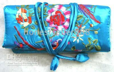 Jewelry Pouches,Bags jewelry roll bag - 36 EMBROIDERED BROCADE SILK JEWELRY ROLLS Pouches bags