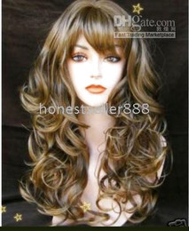 Stylish Brown long made hair healthy wig wigs