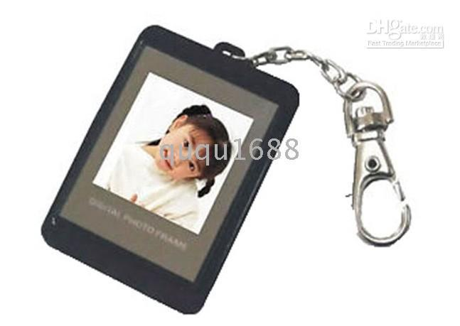 Wholesale 7134 quot inch Digital LCD Photo Frame Picture Keychain blak pieces
