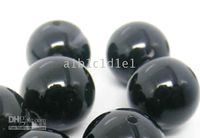 Wholesale 8mm Black Agate Jade Gemstone Loose Beads Islam And Buddhis Prayer Beads Rosary A