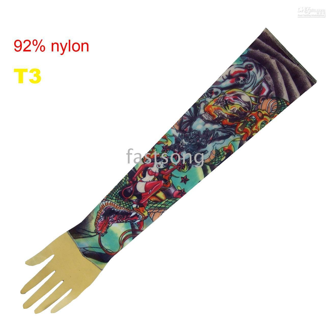 Wholesale nylon tattoo sleeve tatoo arm fashion tattoo arms