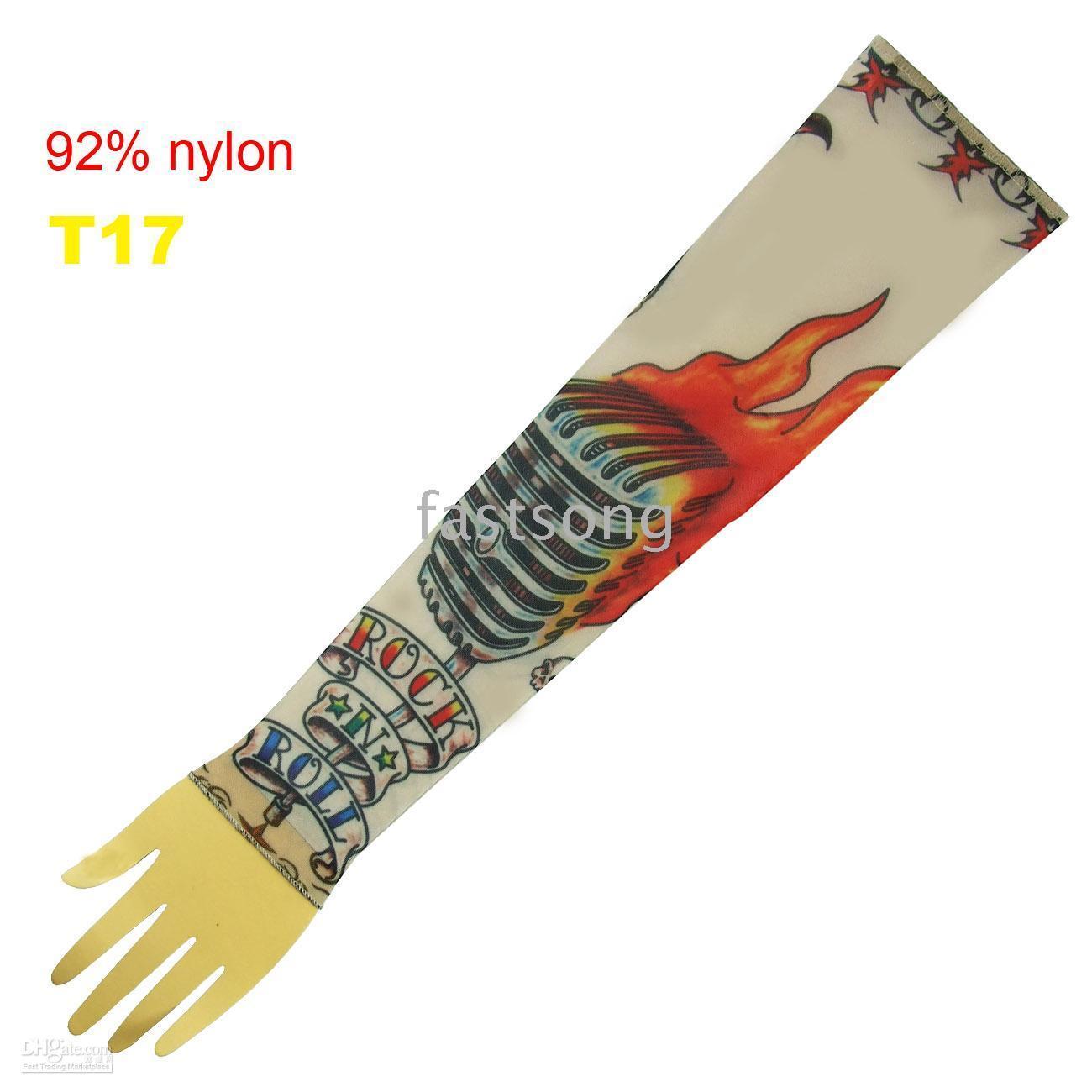 Wholesale Tattoo sleeves fahsion tattoo arm Nylon tatoo sleeves mixed style